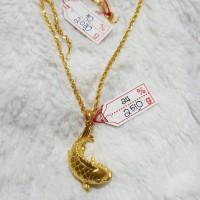 liontin saja emas hongkong 24k 2.510 gram tanpa kalung