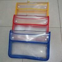 Map Plastik Zipper Bag Kancing / Map Kancing Tebal