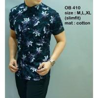 New  Baju Batik Lengan Pendek / Kemeja Batik / Busana Pesta Pria OB410