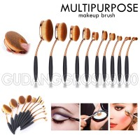 Jual [isi 10 kuas ] MULTIPURPOSE MAKEUP BRUSH / MERMAID Oval Brush Set A290 Murah
