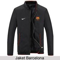 Jaket Parasut Black Barcelona