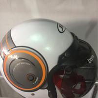 Helm Bogo JP White SNI/ Retro Vespa