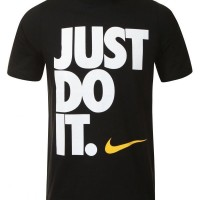 tshirt nike just do it BIG FONT gildan black