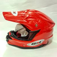 Helm Racing Balap SNI GM Cross Solid Keren Bagus Terlaris Murah Trend