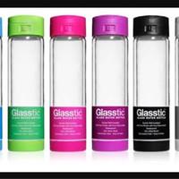 Glasstic shatterproof water bottle (Botol minum kaca anti pecah)