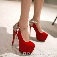 HOT NEW Heels Luxury Red Cheryl bukan Nevada JJ LV Zara Yongki