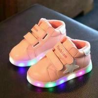 Jual Size besar (31-36) Sepatu anak perempuan import New Star LED Murah