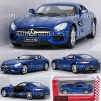 Diecast Mercedes-AMG GT Miniatur Mobil Sport Mainan Anak Kinsmart