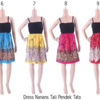 Dress Batik Bali Grosir Murah Dress Nanas Tali Pendek Tato