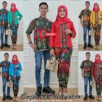 Couple Rok dan Blus Iluva Etnic,baju pasangan, batik kerja modern