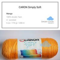 Benang Caron Simply Soft - Mango (Benang Rajut Import)