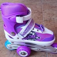 sepatu roda super boom,roda depan bs nyala