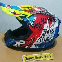 Helm cross JPX Respect France Yellow Glossy