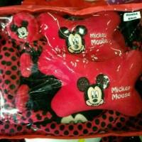 Jual sarung jok mobil universal 18 in 1 motif mickey mouse merah bintik hit Murah
