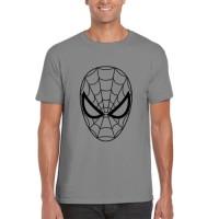 Kaos Distro Spiderman face siluet superhero pria wanita anak