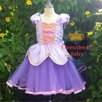 Dress Rapunzel Premium Soft Purple Tutu Kado Ultah Anak Disney