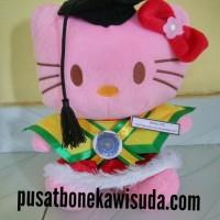 Jual Boneka Wisuda Hello Kitty | Hadiah Wisuda Kado Wisuda Boneka Helo kity Murah