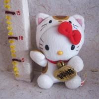 Boneka Hello Kitty Maneki Neko Lucky Cat Costume Original Sanrio Japan