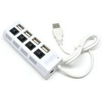 4 Ports USB 2.0 HUB With Independent ON OFF Switch Model UH041