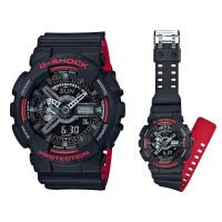 G-Shock GA-110 Black Red Layered