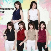 Jual WIDE HALTER TOP blouse baju pesta tanktop wanita murah Murah