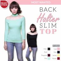 Jual BACK HALTER SLIM TOP kaos blouse baju santai wanita murah Murah