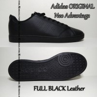 Original Sepatu Adidas ORI Neo Advantage Casual Sneaker Full Hitam Low