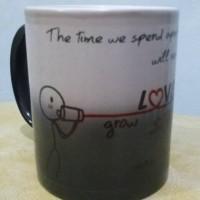 souvenir Mug bunglon custom bisa berubah warna , free desain