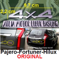 emblem original tulisan 4 x 4 4x4 pajero sport dakar fortuner hilux 1