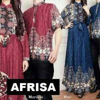 Jual baru  Couple Busui AFRISA Baju Koko + Gamis Maxi Murah