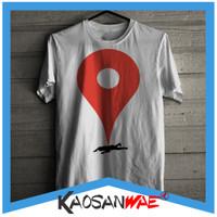 Kaos Lucu Pinned Dead Google Map Tshirt KaosanWae
