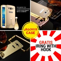 Case Bumper Mirror Samsung Galaxy Grand 2 G7106 GRATIS IRING With Hook