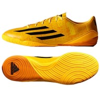 sepatu - ADIDAS MESSI F10 IN INDOOR SOCCER SHOES FUTSAL Solar Gold/Bla