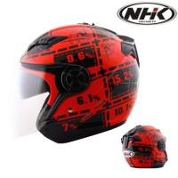 Helm Half Face NHK Gladiator DRC Motif Red, White not KYT INK GM Zeus