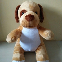 Boneka Cute Puppy Dog Stand Dark Brown Doll Plushie Soft Toy Anjing