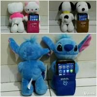 Jual Boneka tempat dudukan HP Android Gadget holder Snoopy Stitch Kitty dll Murah