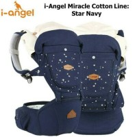 I-Angel Miracle hipseat baby carrier Cotton line Star navy