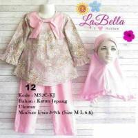 (6-8 tahun) Setelan Anak LaBella MS2C KJ 12 Baju Muslim Anak