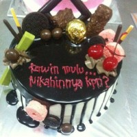 kue tart kitkat / black forest / kue ulang tahun / kue tart murah