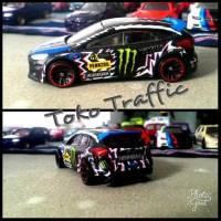diecast ford fokus custom Ken block skala 64 by hot wheels