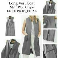 harga Long Vest Coat Grey Tokopedia.com