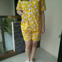 Piyama Import Pdk Yellow Sheep, Bhn Katun Jepang, Ld100