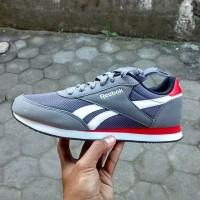 Sepatu Casual Sneakers REEBOK ROYAL CL JOG 2 SEA Grey Original Asli
