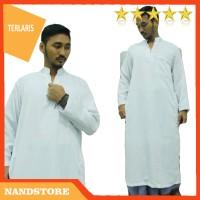 Busana Muslim   Baju Gamis   Baju Jubah Pria Dewasa Jubah Saudi Putih