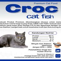 Hobi makanan-kucing anak dewasa Croc fish cat food 10 kg luar daerah