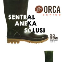 sepatu ap boots orca series brown / green (coklat / hijau) boot murah