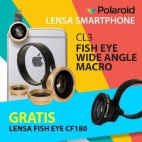 [PROMO] Lensa Kamera HP 3 in 1 Polaroid CL3 - Gratis Fisheye Lens