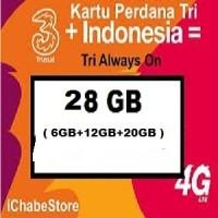 harga Kartu Perdana Three - 3 - Tri Aon 6gb ( 6 Gb Setahun ) Tokopedia.com