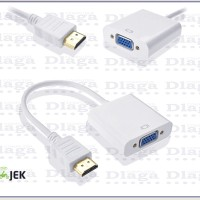 KABEL HDMI KE VGA TO LCD TV PROYEKTOR - CONVERTER HDMI TO VGA