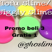 tofu slime 200ml/jiggly slime/puding slime